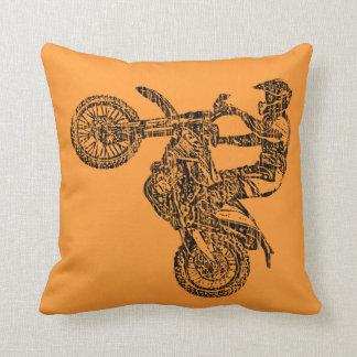 Dirt bike ride throw pillow