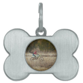 Dirt Bike Riding Pet Tag