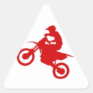 DIRT BIKE (scarlet) Triangle Sticker