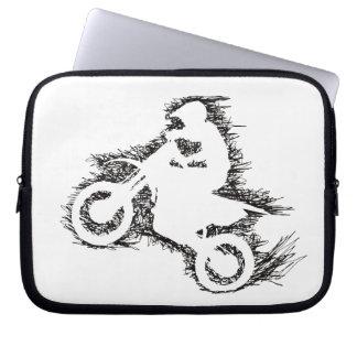 DIRT BIKE SCRIBBLE (laptop sleeve) Laptop Sleeve