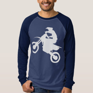 DIRT BIKE (white cropped) T-Shirt