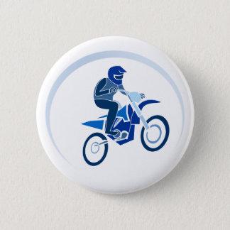 Dirt Biker Vector Biking 2 Inch Round Button