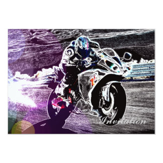 dirt biking motocross racing Motorcycle biker Card