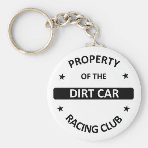 Dirt Car Racing club Keychain