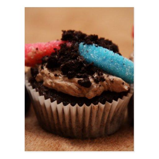 Dirt Cupcake Post Card