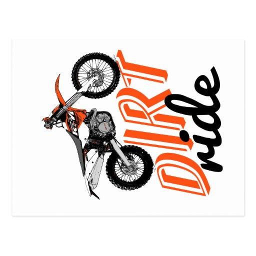 Dirt ride postcard