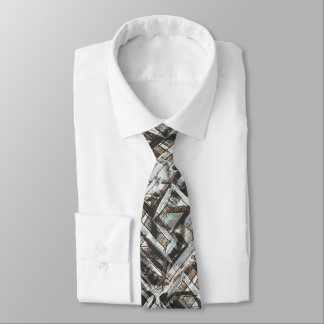Dirt Road-Hand Painted Abstract Brushstrokes Tie