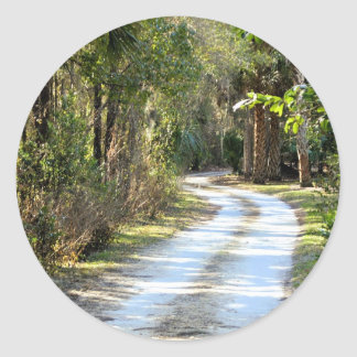 Dirt Road in Micanopy, Florida Classic Round Sticker