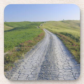 Dirt Road through Fields and Hills, Val d'Orcia, Drink Coaster