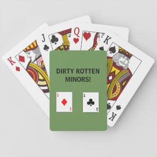 DIRT ROTTEN MINORS PLAYING CARDS