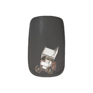 Dirt Sprint Car Skewed 2 Minx Nail Art