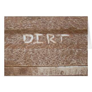 Dirt 'Tailgate Talk' Greeting Card