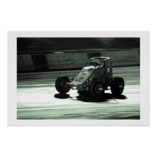 Dirt Track Night Moves Poster