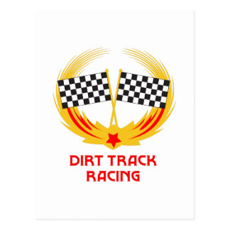 DIRT TRACK RACING POSTCARD