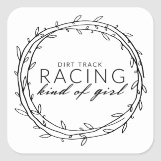 Dirt Track Racing Square Sticker