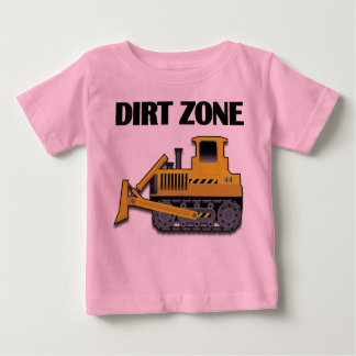 Dirt Zone (Bulldozer) - Your Custom Baby Fine Jers Baby T-Shirt