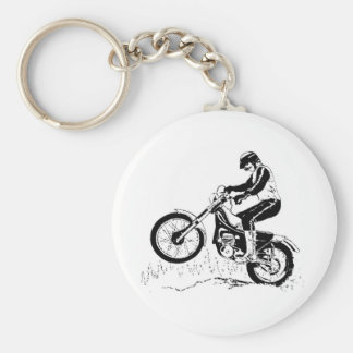 Dirtbike Rider Black Graphic Silhouette Keychain
