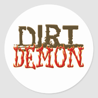 DirtDemon1 Classic Round Sticker