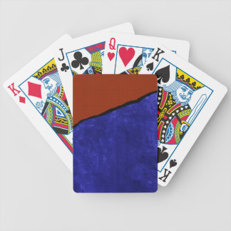 Dirty blue and orange rip bicycle playing cards