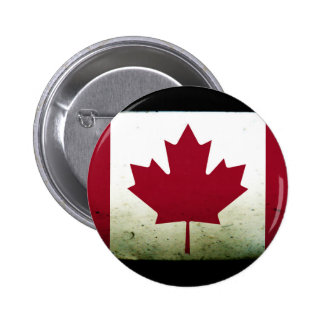 Dirty Canadian Flag 2 Inch Round Button