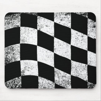 Dirty Chequered Flag Mouse Pad