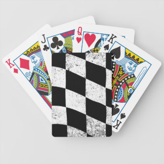 Dirty Chequered Flag Poker Deck