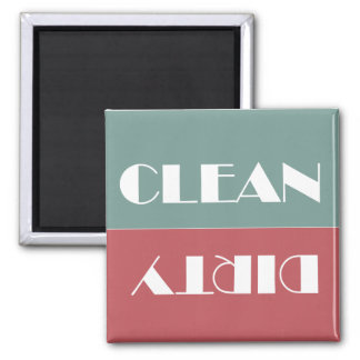 Dirty Clean Brick and Teal Dishwasher Flip Magnet