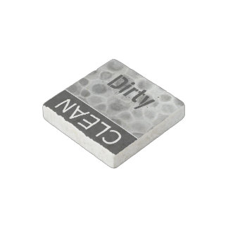 Dirty Clean Dishwasher Faux Petoskey Stone Pattern Stone Magnets