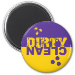 Dirty/Clean Dishwasher Magnet Purple and Yellow