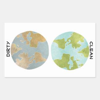 Dirty Clean Earth Sticker