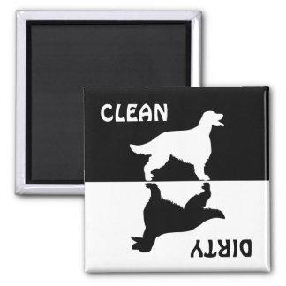 Dirty Clean Irish Setter dog dishwasher magnet