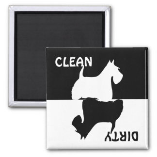 Dirty Clean Scottish Terrier dog dishwasher magnet