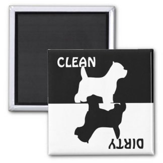 Dirty Clean Westie dog dishwasher magnet, gift Magnet