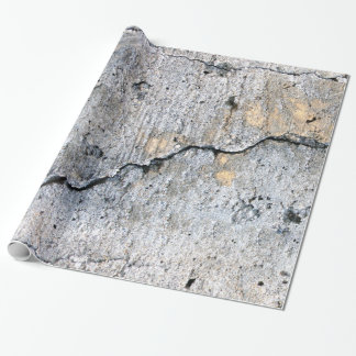 Dirty & Cracked Concrete Wrapping Paper