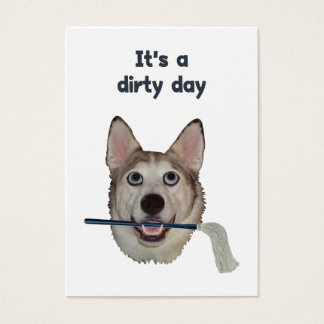 Dirty Day Dog Pee Humor Business Card