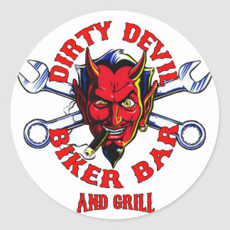 dirty devil biker bar and grill stickers