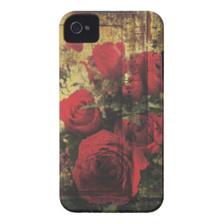 Dirty Distressed & Grungy Red Roses Bouquet iPhone 4 Case-Mate Cases