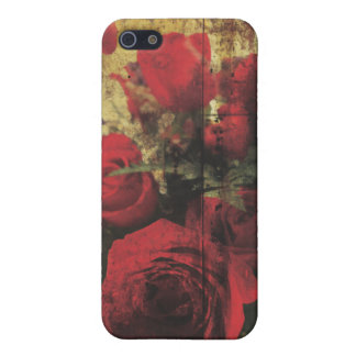 Dirty Distressed & Grungy Red Roses Bouquet iPhone 5/5S Cases