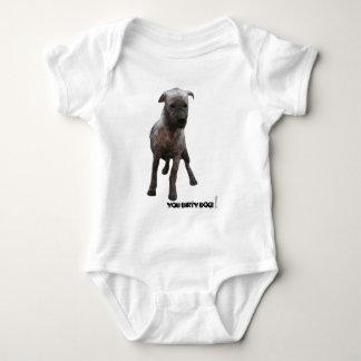 Dirty_dog_white Baby Bodysuit