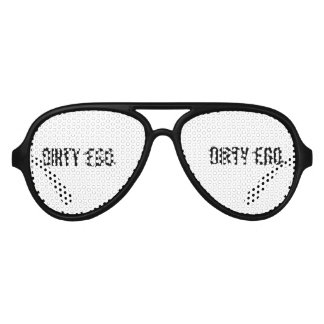 Dirty Ego Bachelor Party Aviator Sunglasses