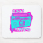 DIRTY ELECTRO dance club DJ girls an guys neon Mouse Pads