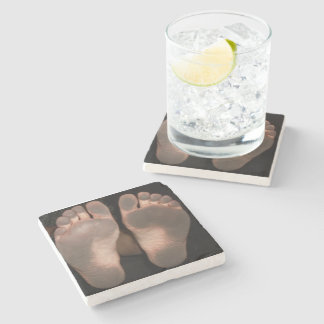 DIRTY FEET STONE COASTER