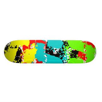 Dirty Footprint Colors Skateboard