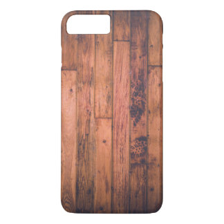 Dirty Grungy Wood Floor with Bootprints iPhone 7 Plus Case