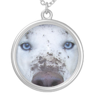 dirty husky silver plated necklace