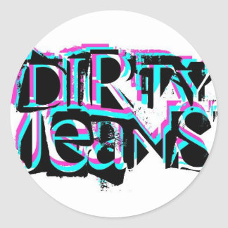 DIRTY JEANS logo stickers