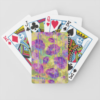Dirty Kisses Abstract Pattern Poker Deck