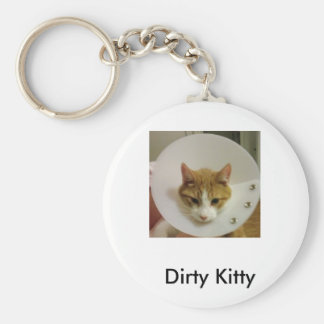 Dirty Kitty Keychain