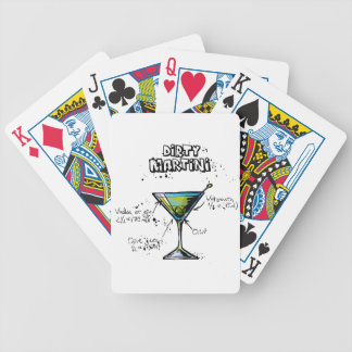 Dirty Martini Cocktail Recipe Bicycle Playing Cards