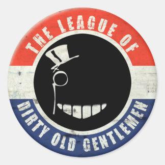 """Dirty Old Gentlemen """"Button"""" Sticker"""